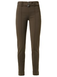 Gloria Coelho Slim Fit Trousers Brown