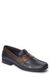 Sandro Moscoloni Men's Trento Penny Loafer Navy Leather