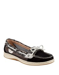 Sperry Angelfish Mesh Loafers Black White