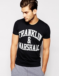 Franklin And Marshall T Shirt With Franklin And Marshall Print Black