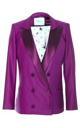 Racil Prince Double Breasted Tuxedo Jacket Purple