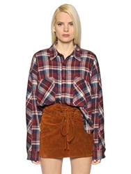 Faith Connexion Plaid Cotton Flannel Shirt