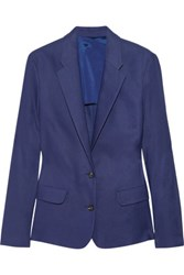 Acne Studios Cindy Linen Blend Twill Blazer Royal Blue