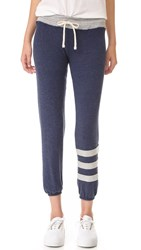 Sundry Sweater Knit Cozy Stripes Sweatpants Navy
