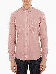Our Legacy Pink Raw Silk Shirt