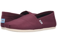 Toms Classic Canvas Red Mahogany Canvas Men's Flat Shoes Purple