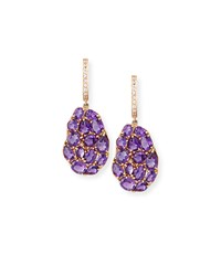 Signature 18K Rose Gold Amethyst And Pink Sapphire Drop Earrings Rina Limor
