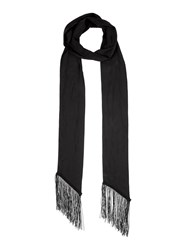 Miss Selfridge Black Skinny Scarf