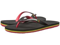 Quiksilver Haleiwa Black Red Green Men's Sandals