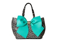 Betsey Johnson Knot Your Average Tobo Spot Hobo Handbags Black