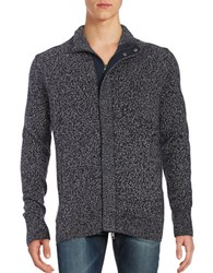 Nautica Marled Knit Zip Cardigan True Navy