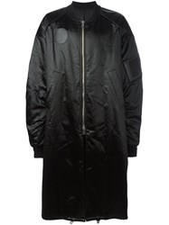 Juun.J Oversized Bomber Coat Black