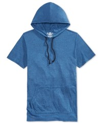 American Rag Men's Double Dyed Short Sleeve Hoodie Only At Macy's Navy