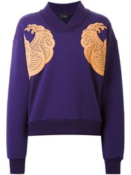 G.V.G.V. 'Nami' Kimono Collar Sweatshirt Pink And Purple