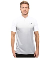 Nike Tiger Woods Vl Max Sphere Print Polo White Wolf Grey Reflect Black Men's Short Sleeve Pullover