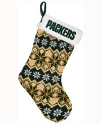 Forever Collectibles Green Bay Packers Ugly Sweater Knit Team Stocking