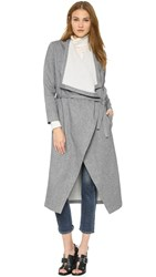 Rodebjer Vive Double Trench Coat Navy White