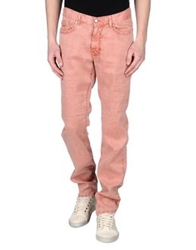 Harmont And Blaine Denim Pants Brick Red