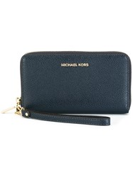 Michael Michael Kors Zip Around Wallet Blue
