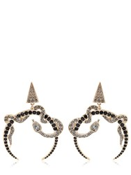 Roberto Cavalli Embellished Snake Earrings