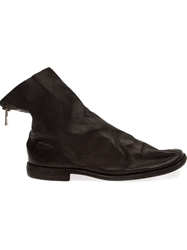 Guidi Distressed Ankle Boots Black