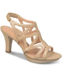 Naturalizer Danya Evening Sandals Women's Shoes Taupe Printed Iguana