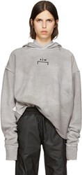 A Cold Wall Reversible Grey Oversized Logo Hoodie