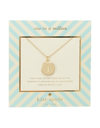 Kate Spade New York One In A Million Letter I Pendant Necklace