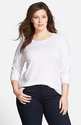 Plus Size Women's Sejour Forward Shoulder Tee