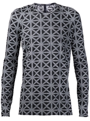 Gareth Pugh Long Sleeve Geometric Shirt Grey
