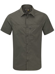 Craghoppers Plain Classic Fit Short Sleeve Classic Collar Shi Green