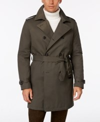 Tommy Hilfiger Men's Lester Dark Olive Trench Raincoat