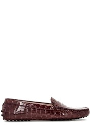 Tod's Gommini Patent Leather Driving Shoes Purple