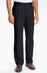 Men's Big And Tall Cutter And Buck Double Pleated Microfiber Pants Navy Blue