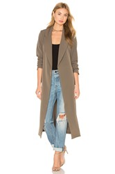 Lavish Alice Cargo Pocket And D Ring Belt Utility Duster Jacket Sage