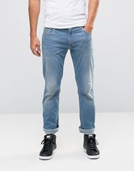 Love Moschino Slim Fit Back Pocket Print Jeans Blue
