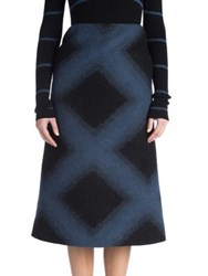 Fendi Printed Fleece Skirt Black Blue