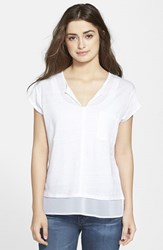 Women's Sanctuary 'City Mix' Layered Look Tee White