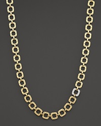 Roberto Coin 18K Yellow And White Gold Mini Diamond Pois Moi Collar Necklace 16 Gold White