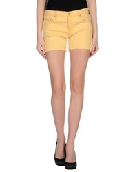 Mother Denim Shorts Yellow