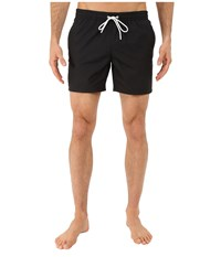 Lacoste Taffeta Swimming Trunk Black White Men's Swimsuits One Piece