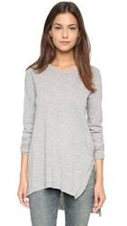 Wilt Asymmetrical Slouchy Tunic Grey Heather