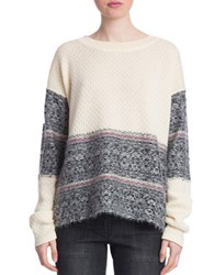 Plenty By Tracy Reese Fair Isle Pullover Sweater Custard