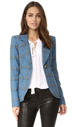 Smythe Patch Pocket Duchess Blazer Cornflower Rust