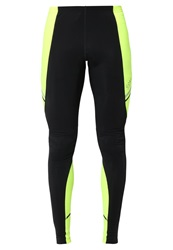 Gore Running Wear Mythos Tights Black Neon Yellow