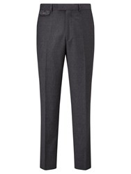 Chester Barrie By Glen Check Tailored Suit Trousers Grey Blue