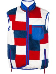 Ganryu Comme Des Garcons High Neck Zipped Vest Multicolour