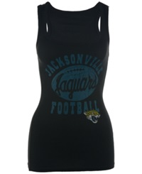 G3 Sports Women's Jacksonville Jaguars Goal Line Graphic Tank Top Black