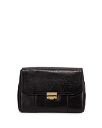 Mini Marlow Leather Evening Clutch Bag Black Lauren Merkin