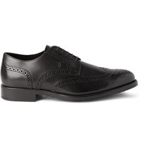 Tod's Bucature Leather Wingtip Brogues Black